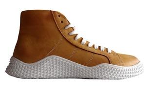 Buty sportowe sznurowane Pascuello musztardowe