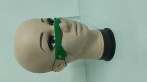 Piankowa przyłbica na nos i usta ciemna zieleń