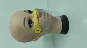 Piankowa przyłbica na nos i usta żółty